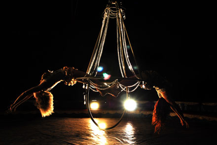 Aerial Chandellier - Boswell Wilkie Circus